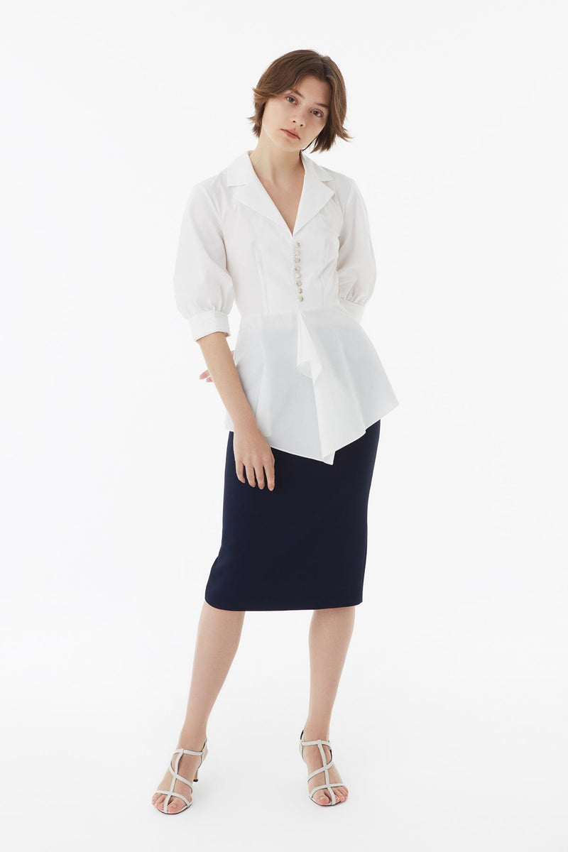 Exquise Blouse L/Sl White