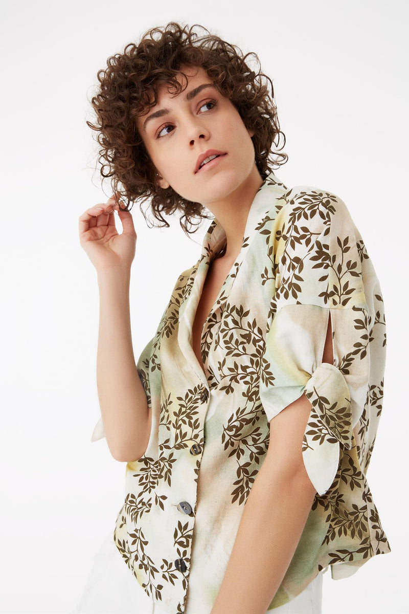Exquise Shirt Print S/Sl Print - Wardrobe Fashion