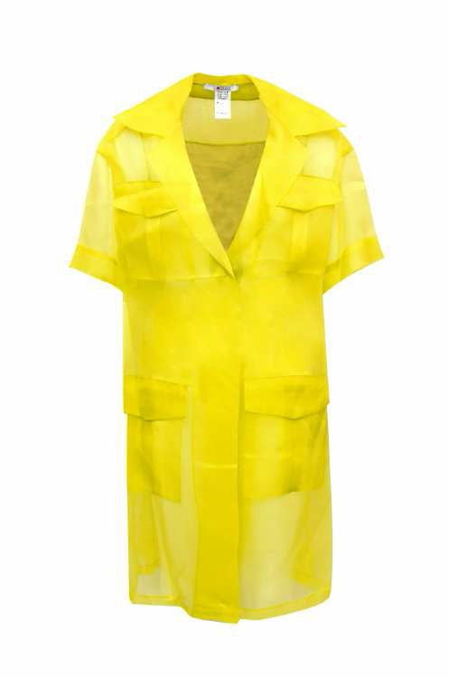 Exquise Shirt 4 Pkt S/Sl Yellow - Wardrobe Fashion