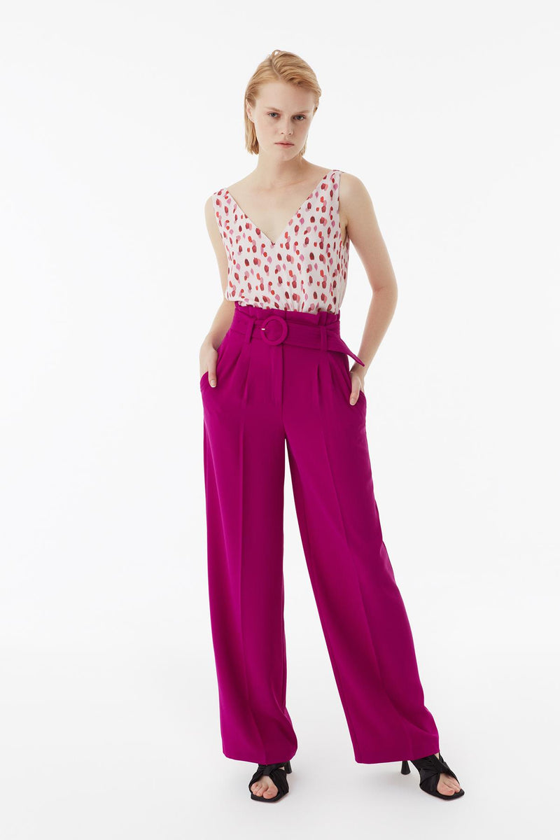Exquise Trouser+Belt Pink