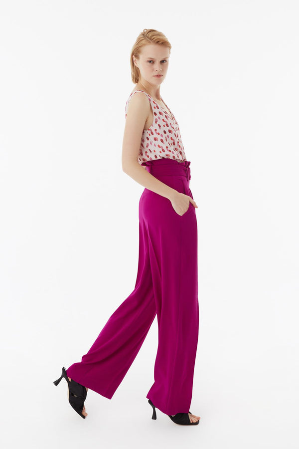Exquise Trouser+Belt Pink - Wardrobe Fashion