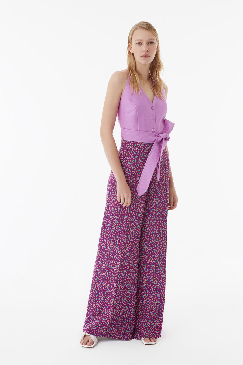 Exquise Trouser Paisley Print Purple