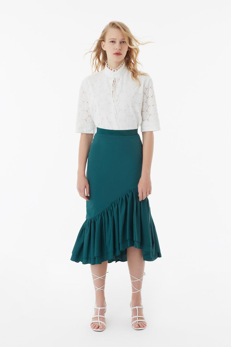 Exquise Skirt Pleat Green