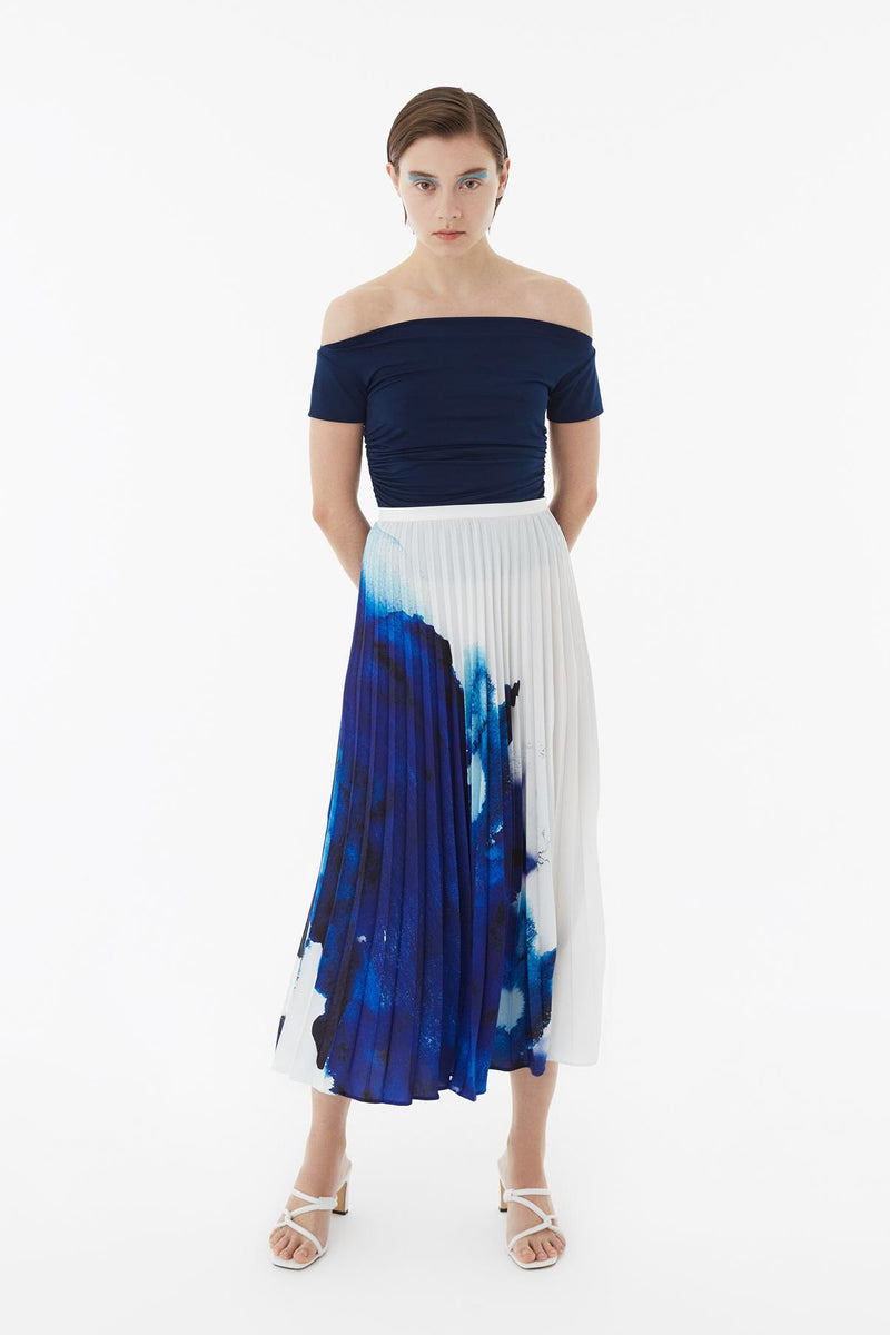 Exquise Skirt Pleat Print