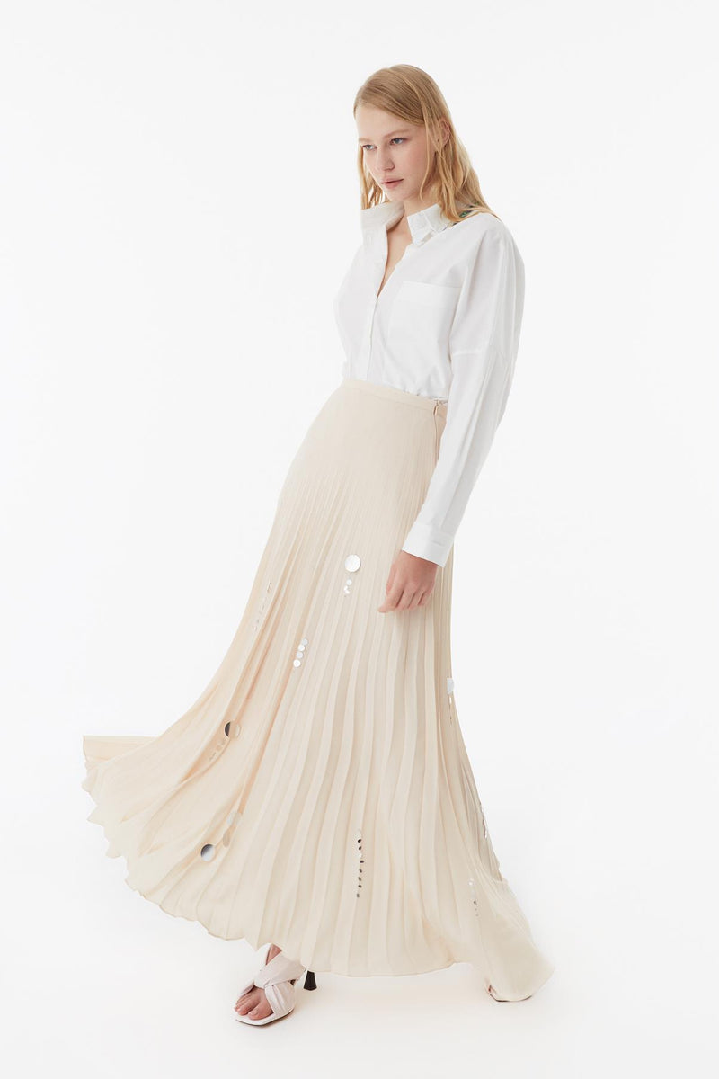 Exquise Skirt Full Lace Beige - Wardrobe Fashion