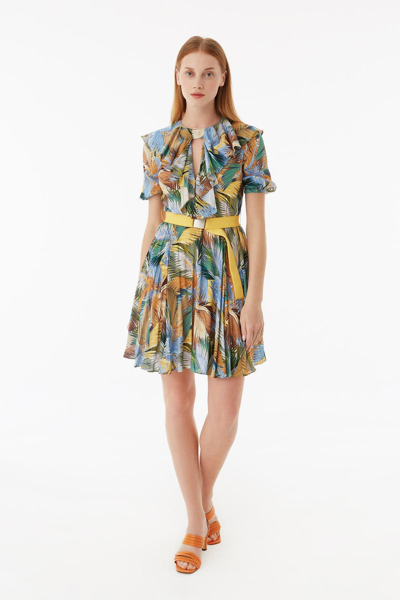 Exquise Dress Short Print S/Sl Print