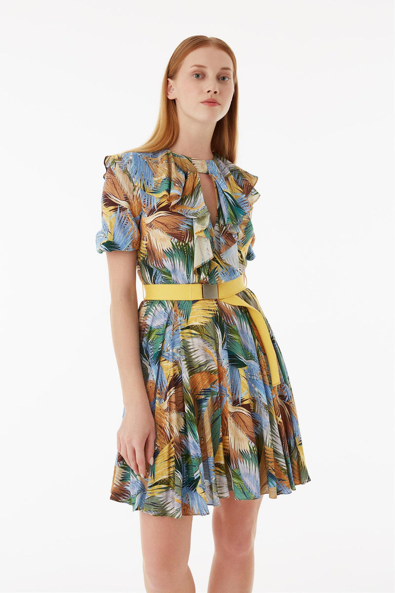 Exquise Dress Short Print S/Sl Print - Wardrobe Fashion
