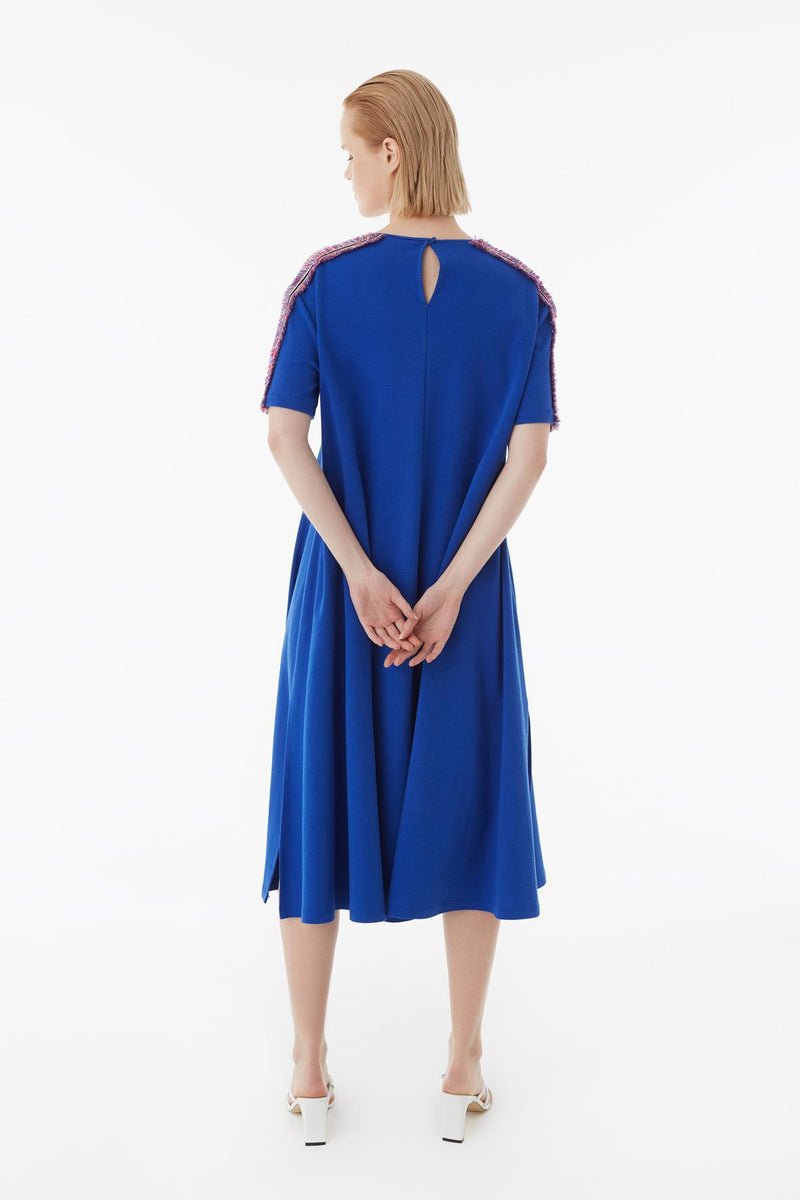Exquise Dress Stripe S/Sl Blue