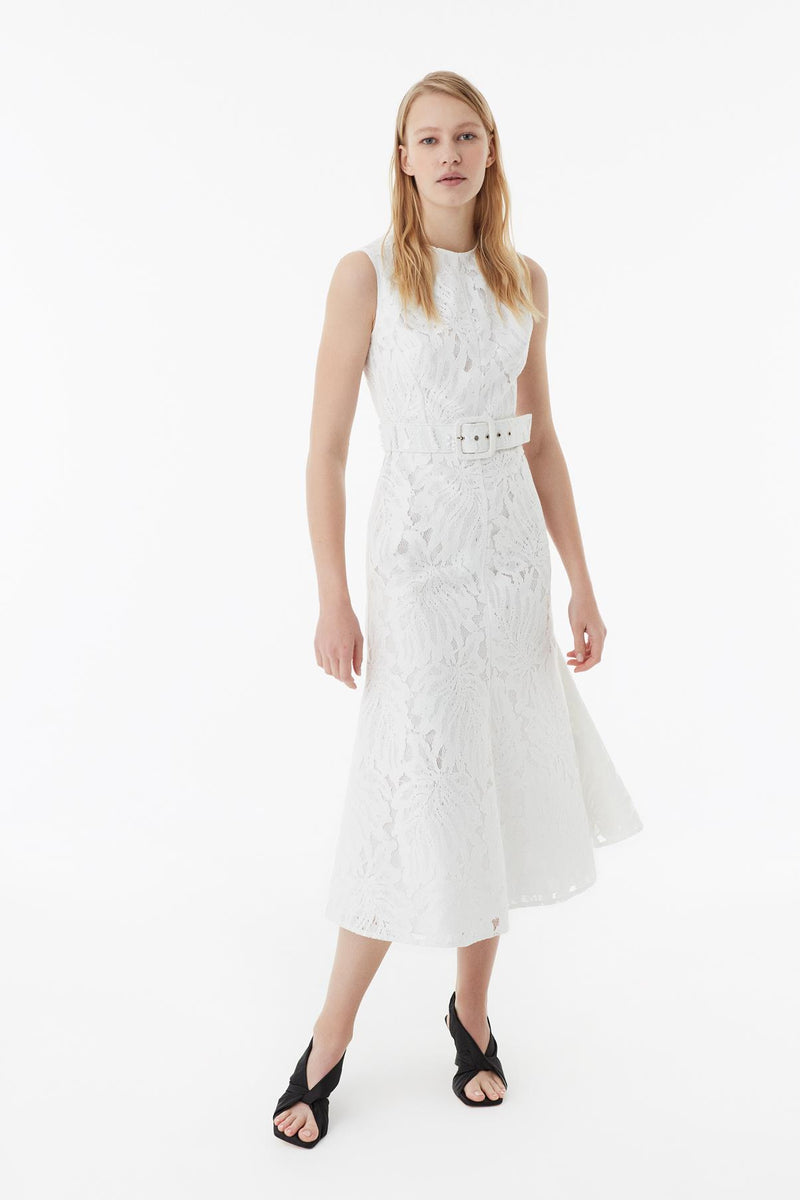 Exquise Dress Full Embroied N/ White - Wardrobe Fashion