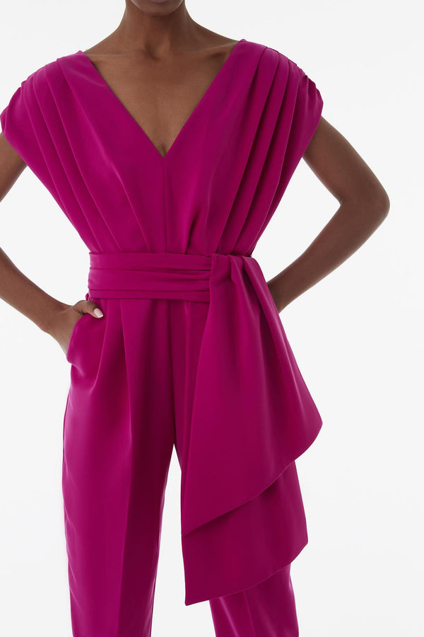 Exquise Jumpsuit Pelat N/Sl Fuchsia - Wardrobe Fashion