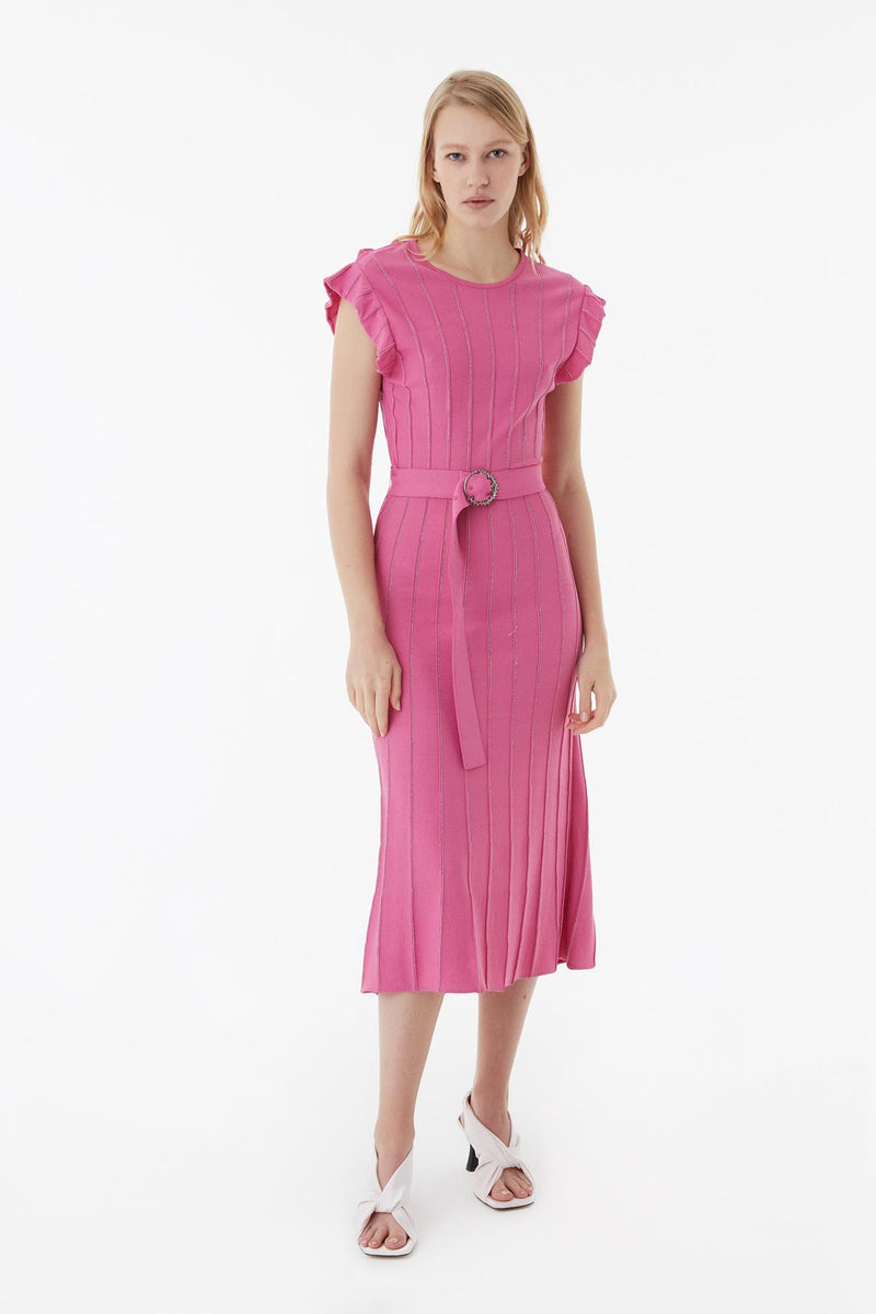 Exquise Dress S/Sl Pink