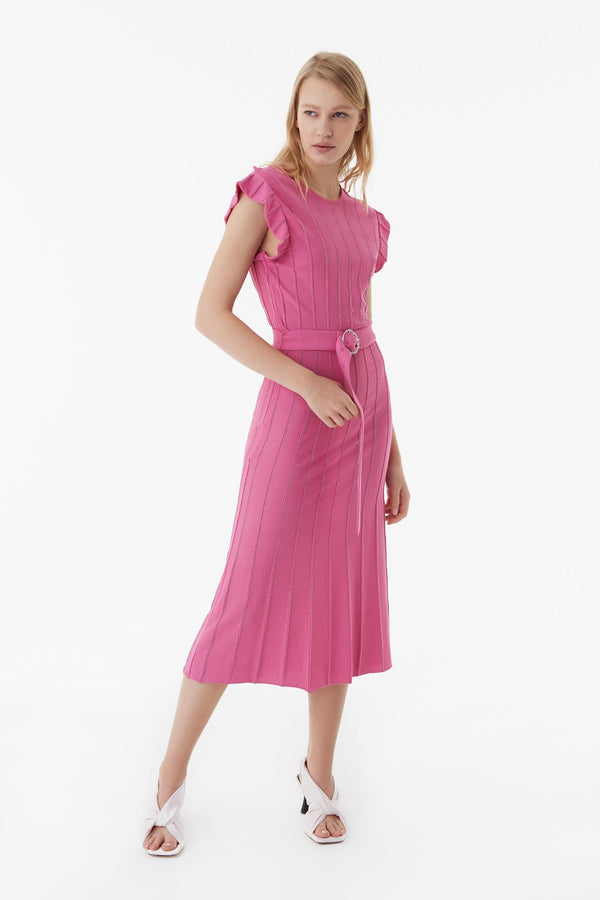 Exquise Dress S/Sl Pink - Wardrobe Fashion