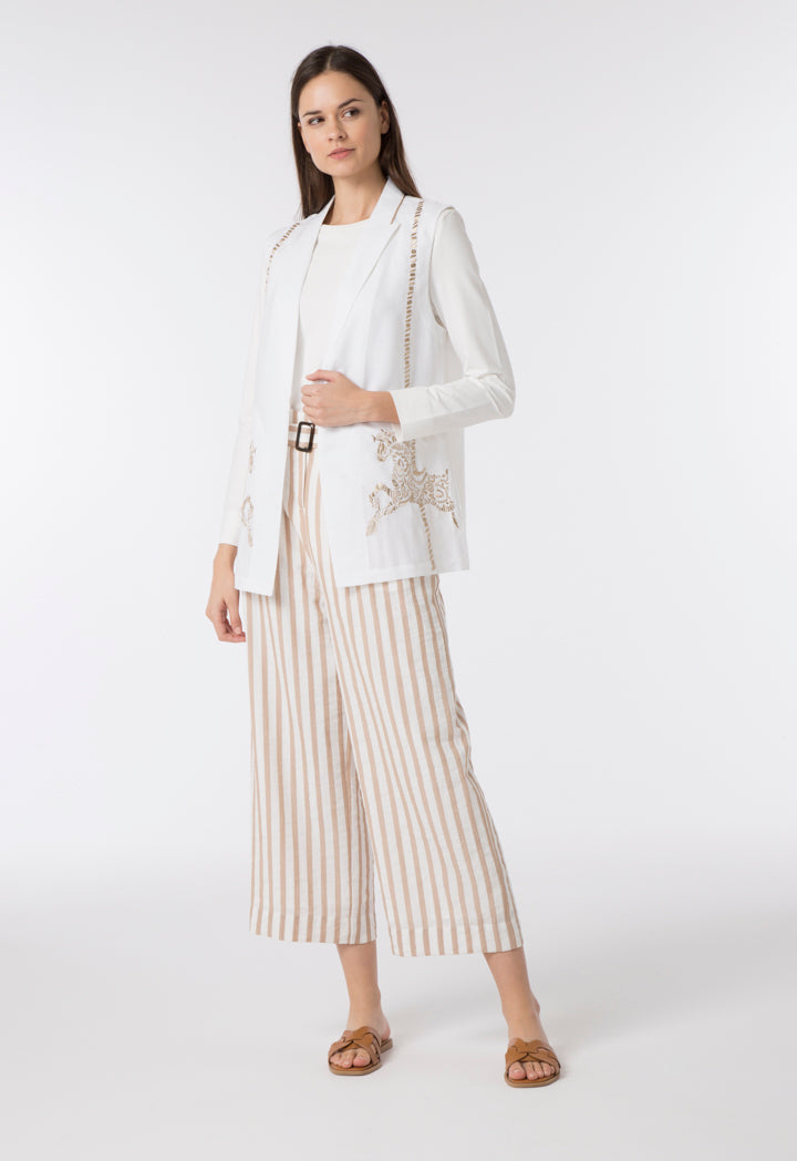Choice Striped Wide Leg Trouser Multicolor