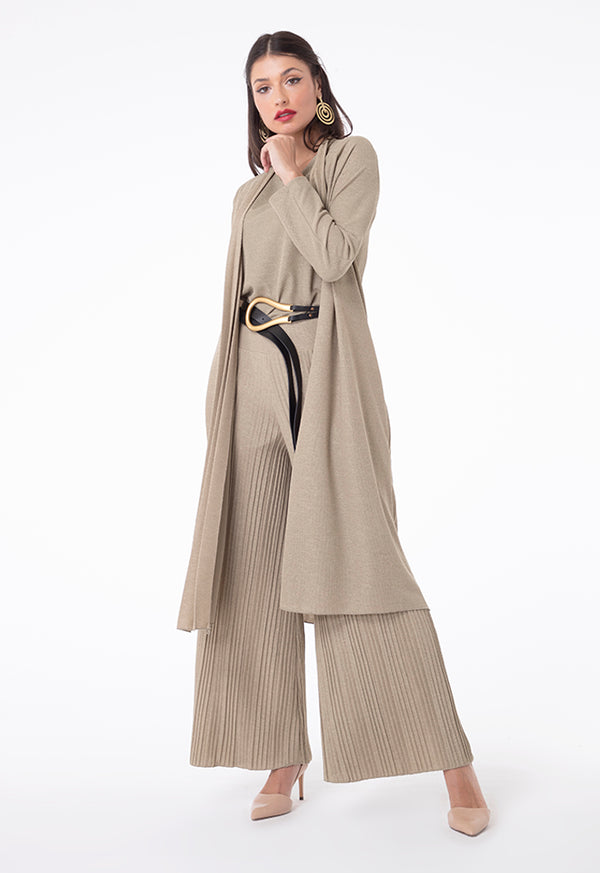 Choice Linen Jersey Long Sleeves Outer Khaki