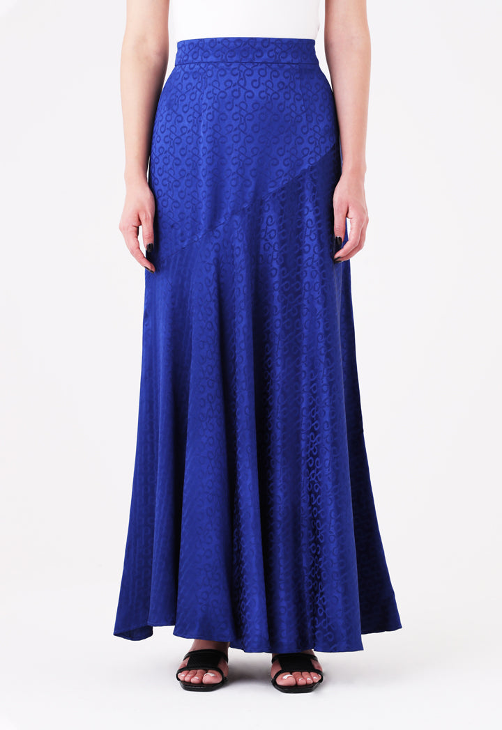 Choice Jacquard Maxi Skirt Cobalt