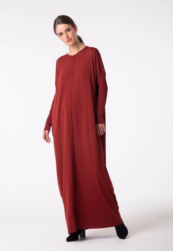 Choice Knitted Maxi Dress Rust