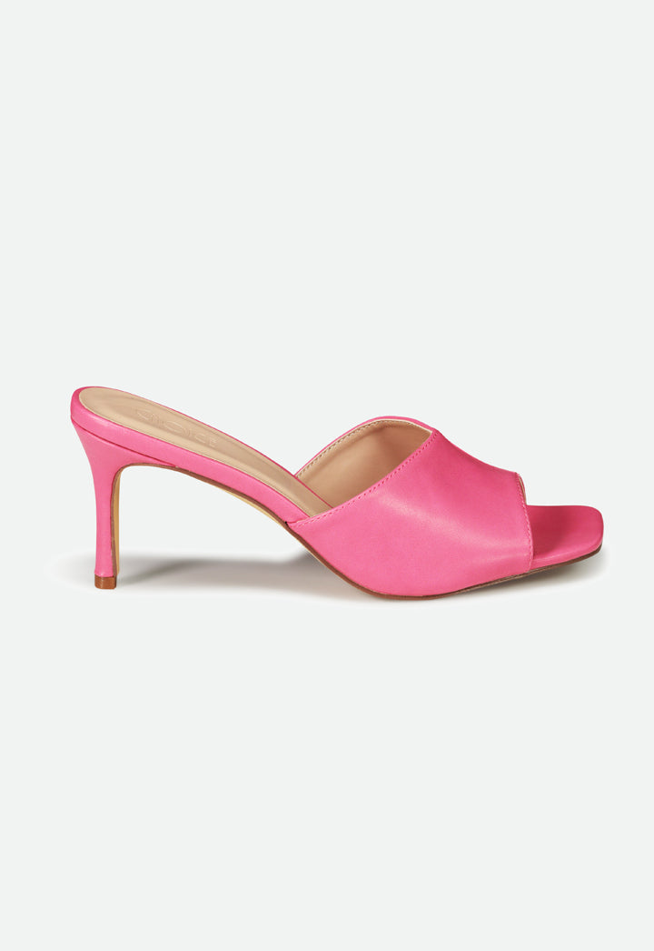 Choice Peep Toe High Heels Sandals Pink - Wardrobe Fashion