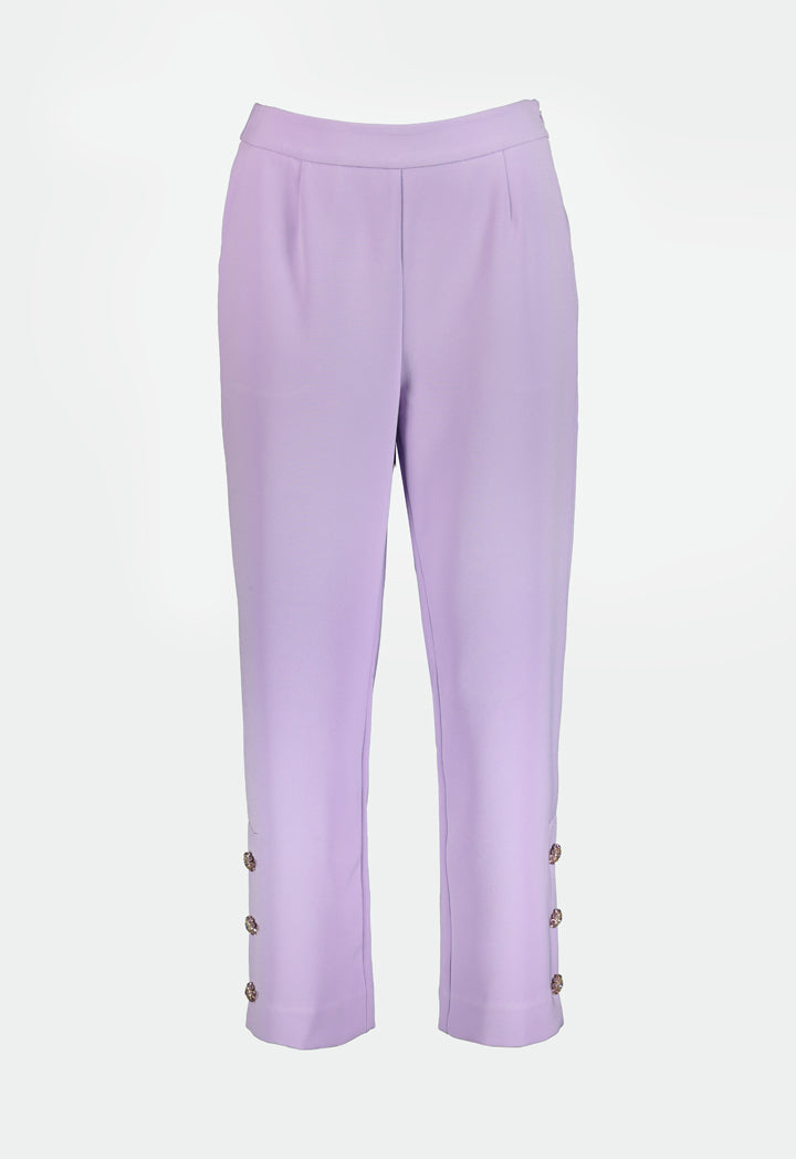 Choice Crystal Buttoned Trouser Lilac