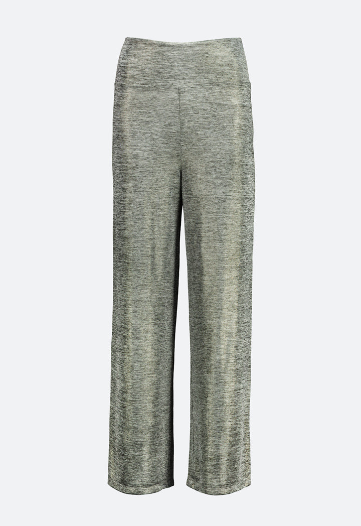 Choice Lurex Knitted Trouser Silver - Wardrobe Fashion