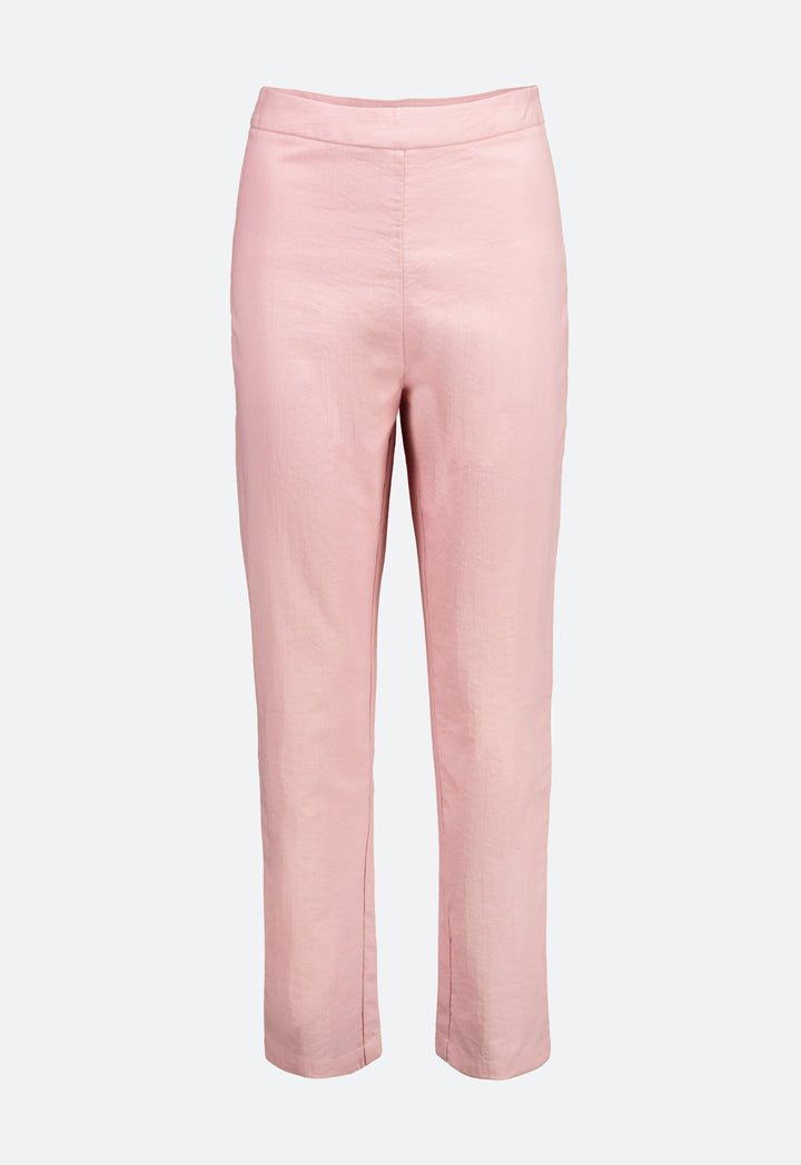 Choice Basic High Waisted Trouser Blush - Wardrobe Fashion