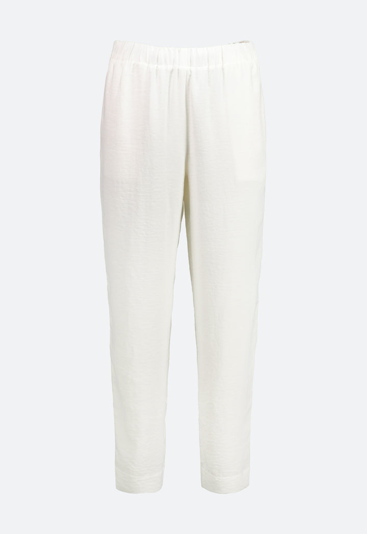 Choice Crinkled Crepe Trouser Off White - Wardrobe Fashion