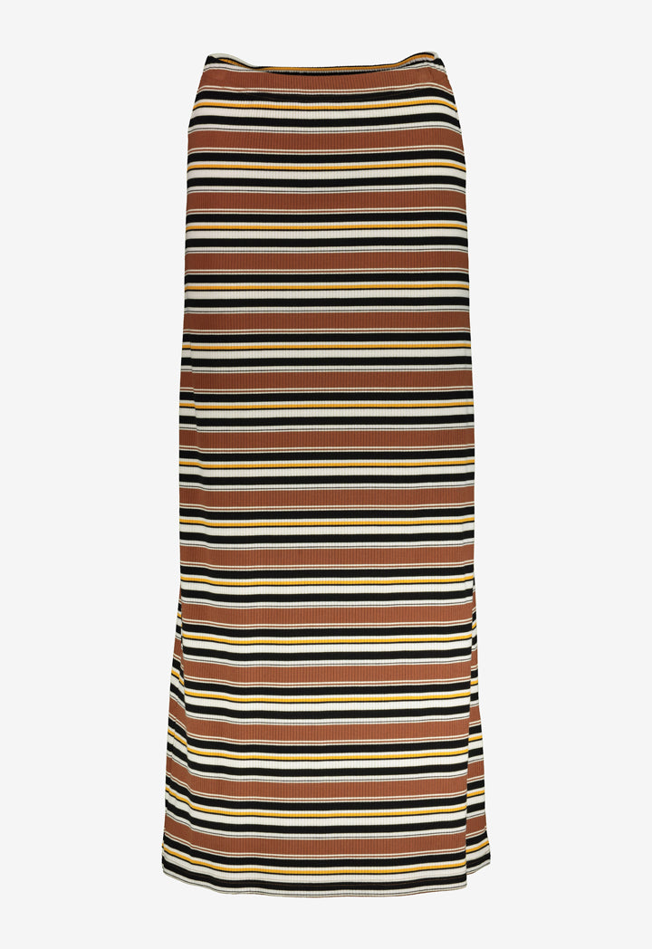 Choice Ribbed Stripes A-Line Skirt Multicolor