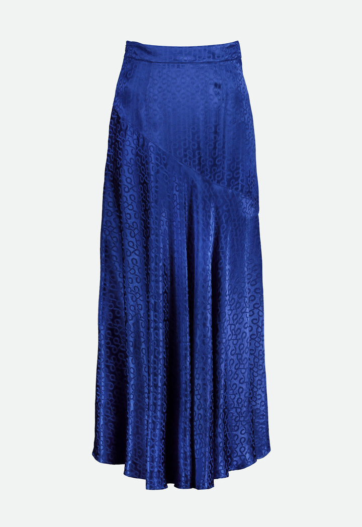 Choice Jacquard Maxi Skirt Cobalt - Wardrobe Fashion