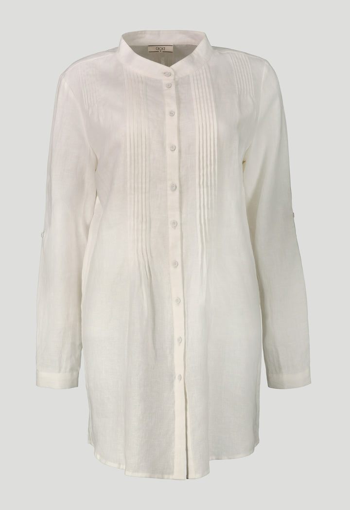 Choice Pintuck Detailed Shirt  Off White - Wardrobe Fashion
