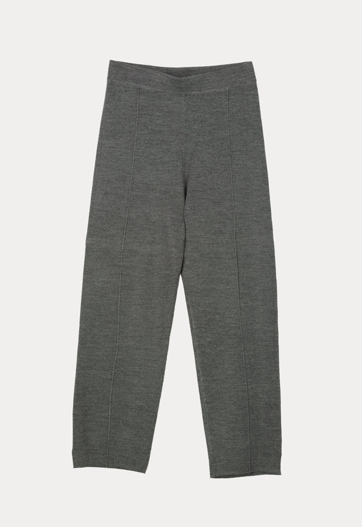 Choice Knitted High Waist Casual Pants Grey