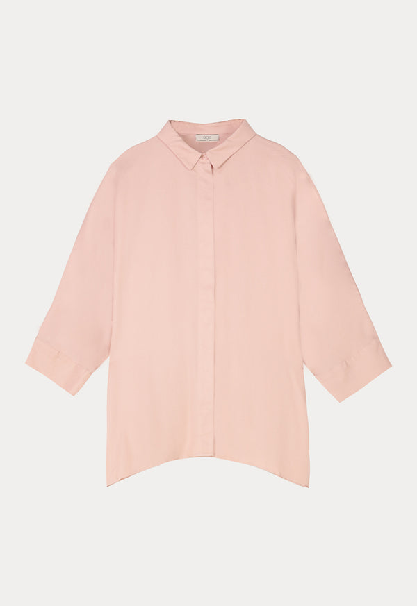 Choice Basics Long Sleeve Comfortable Fit Shirt Blush