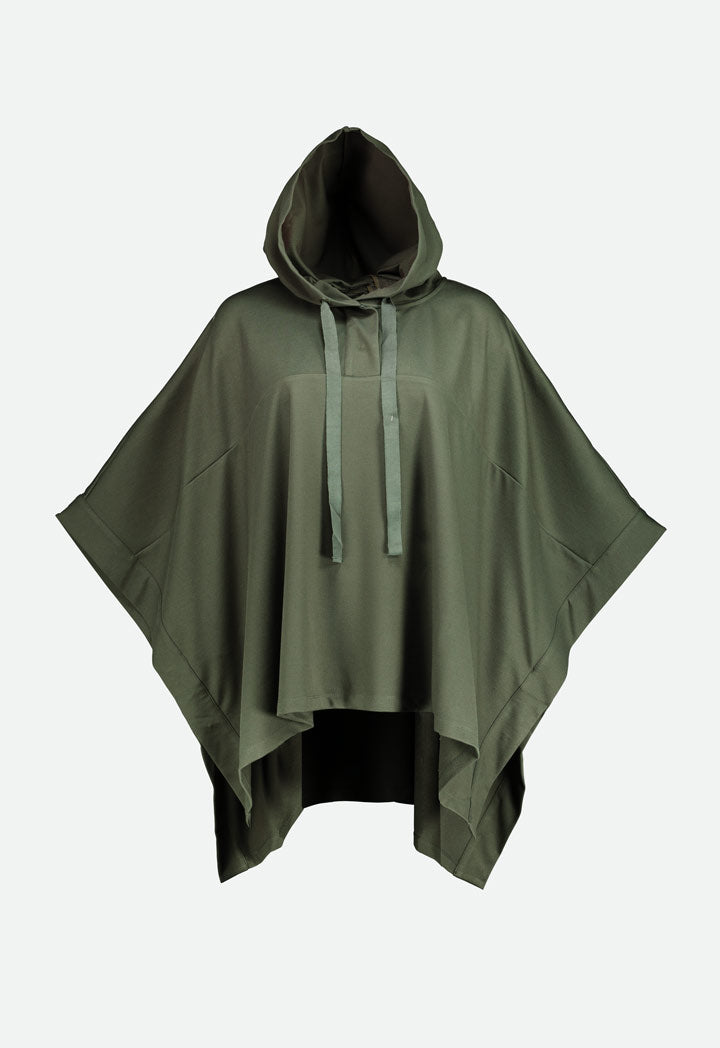 Choice Hooded Cape Top Olive