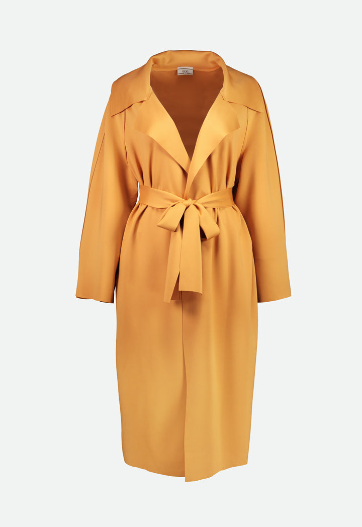 Choice Seamless Long Belted Outerwear Canary Yellow