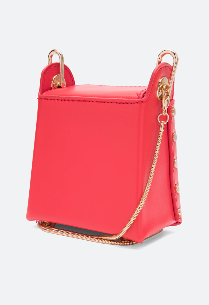 Choice Mini Magnetic Closure Bag Red - Wardrobe Fashion