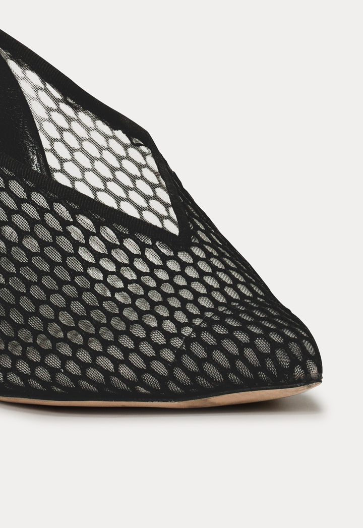 Choice Mesh Panel Mules Black