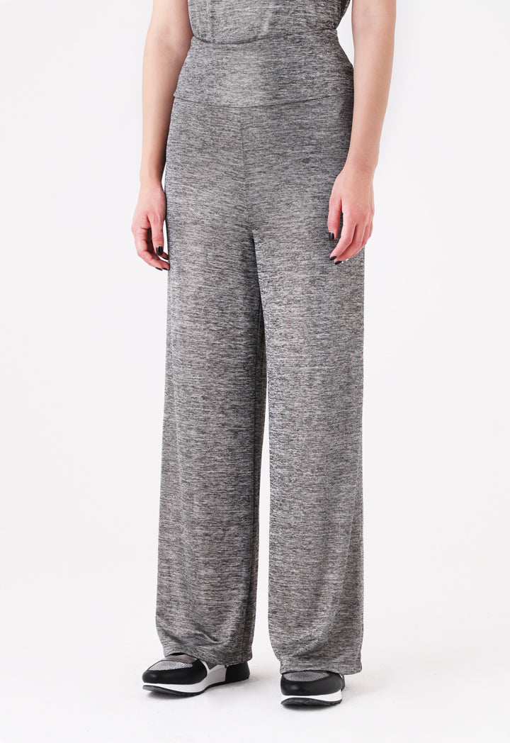 Choice Lurex Knitted Trouser Silver