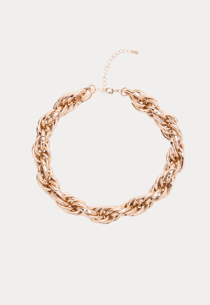 Choice Gold Tone Multi Chain Link Necklace Gold - Wardrobe Fashion