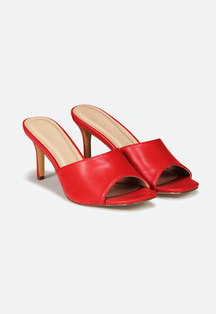 Choice Peep Toe High Heels Sandals Red - Wardrobe Fashion