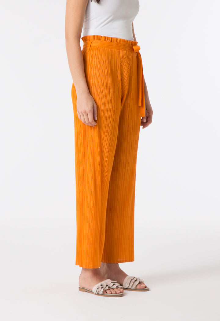 Choice Electric Pleated Culottes Orange