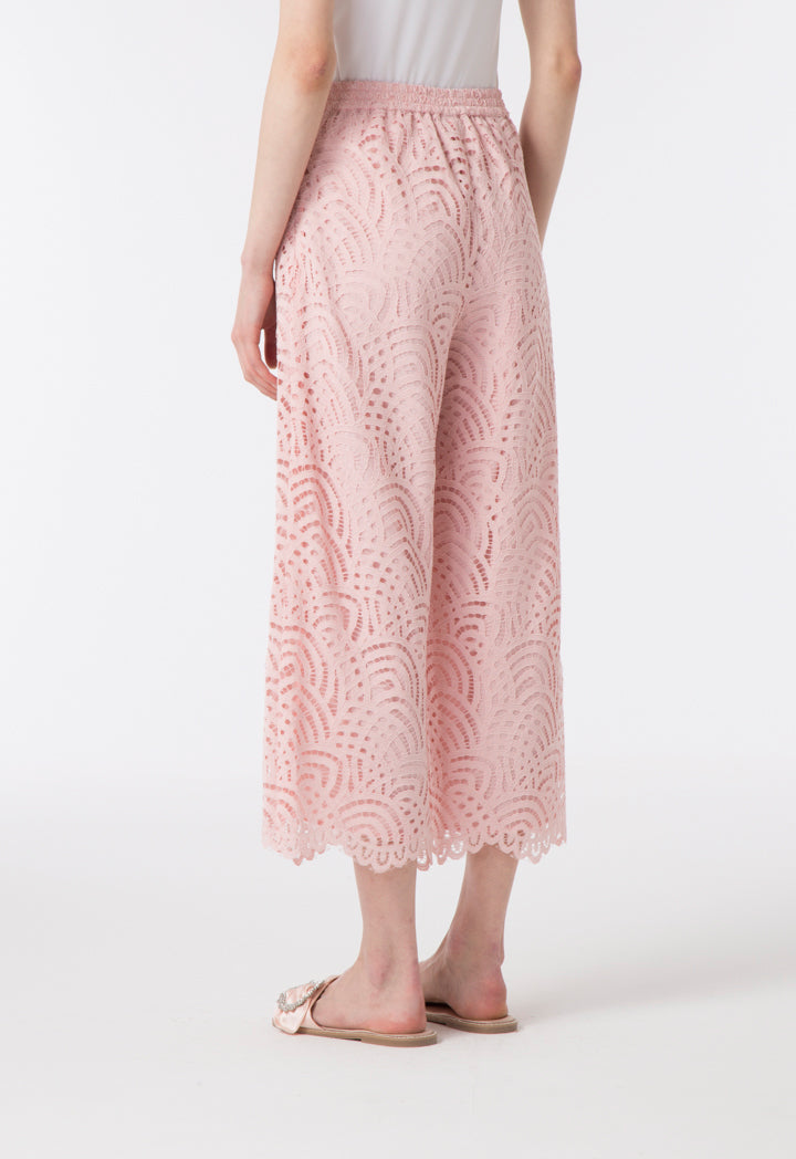 Choice Wide Leg Laced Trouser Blush