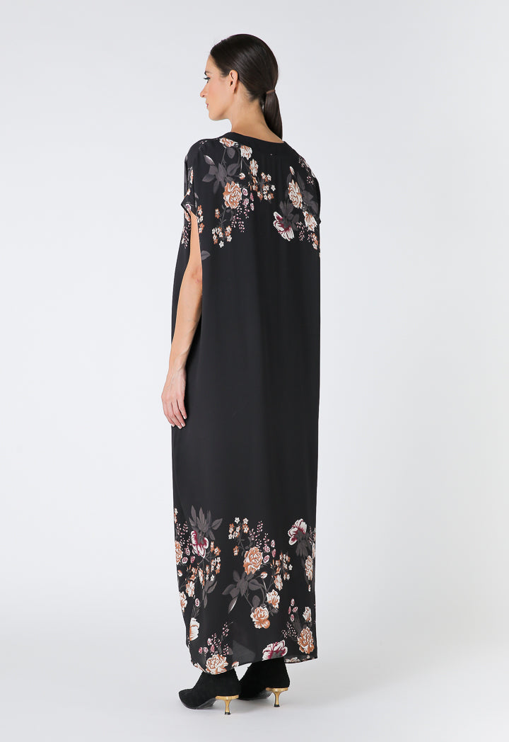 Choice Floral Print Maxi Dress Black