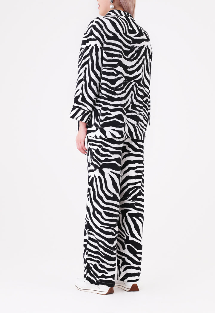 Choice Zebra Printed Blouse Multicolor