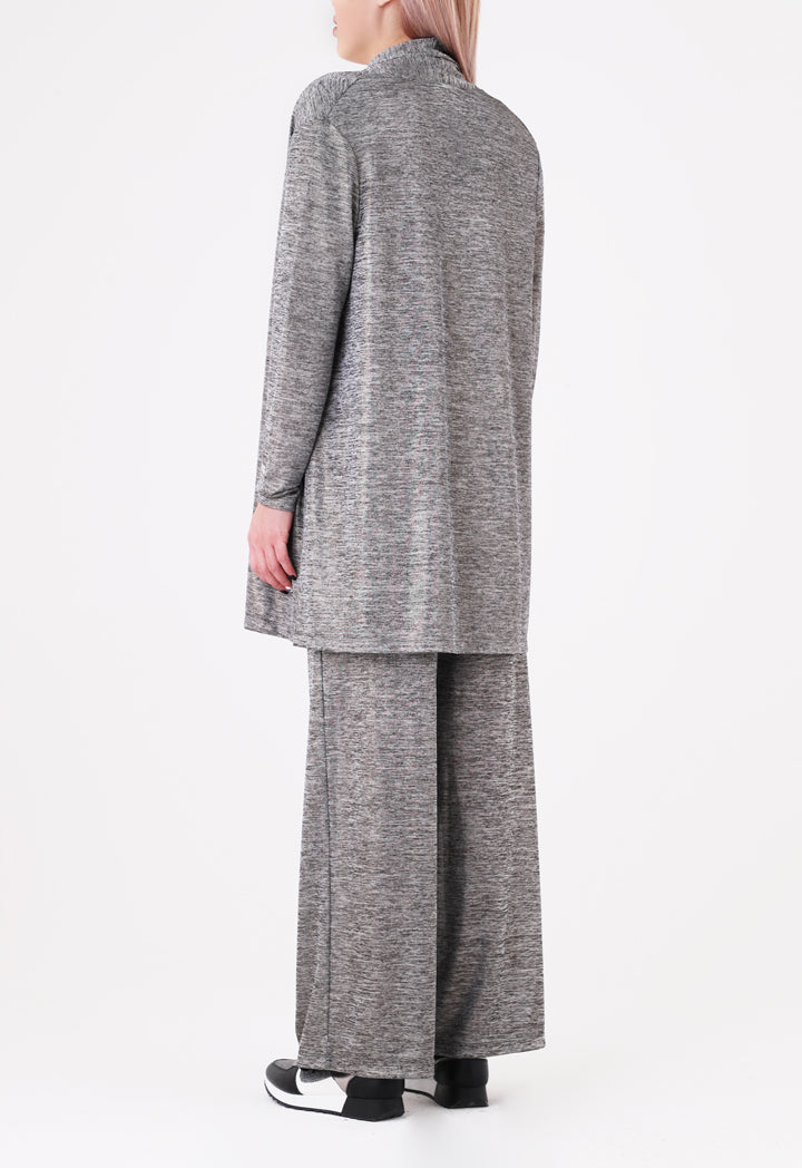 Choice Lurex Knitted Outerwear Silver