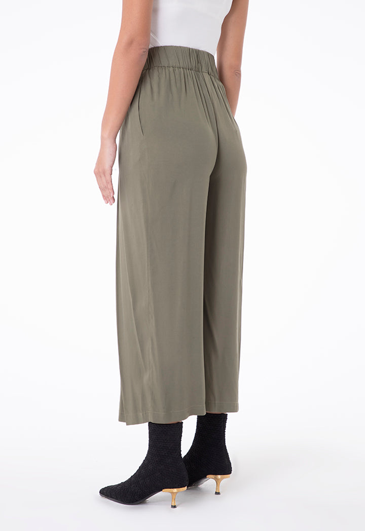 Choice Palazzo Wide Leg Pants Olive