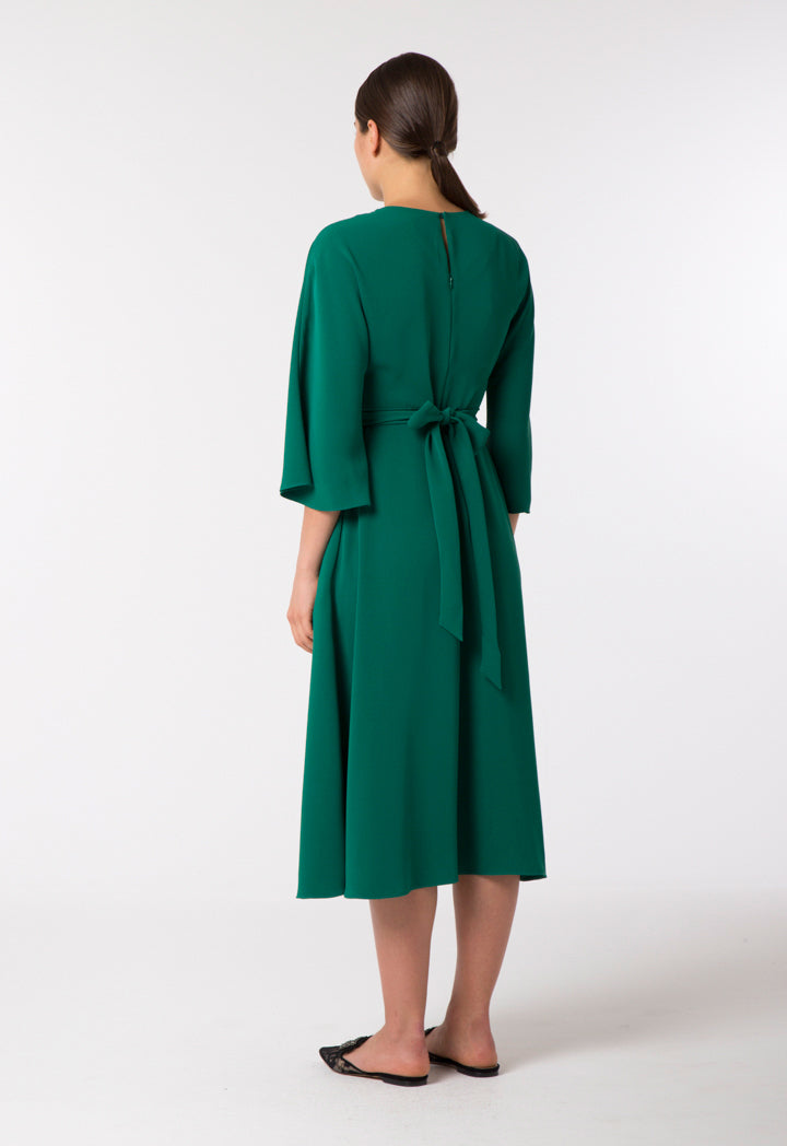 Choice Twisted Waist Dress Pine Green