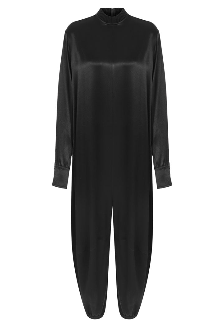 Nu Long Sleeve Relaxed Fit Jumpsuit Black