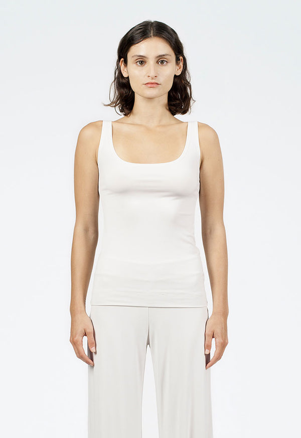 Nu Sleeveless Relaxed Fit T-Shirt Moon