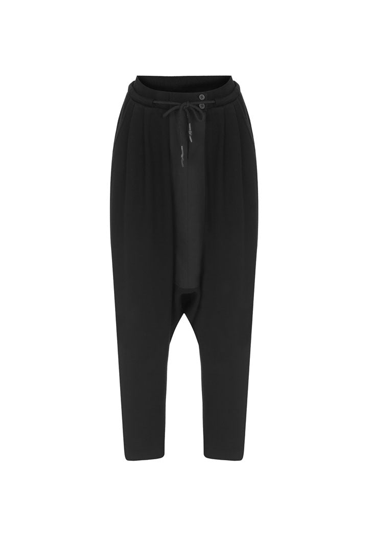 Nu Drawstring Detail Harem Trouser Black