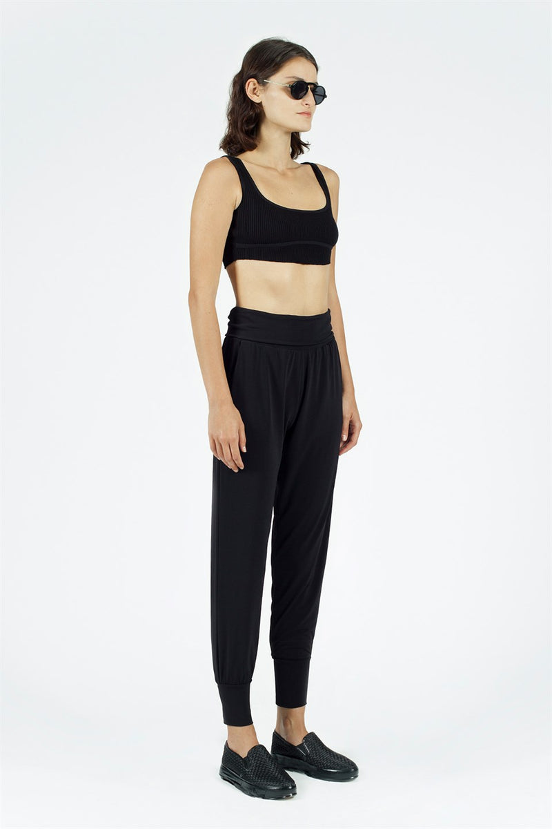 Nu High Waist Comfortable Fit Trouser Black