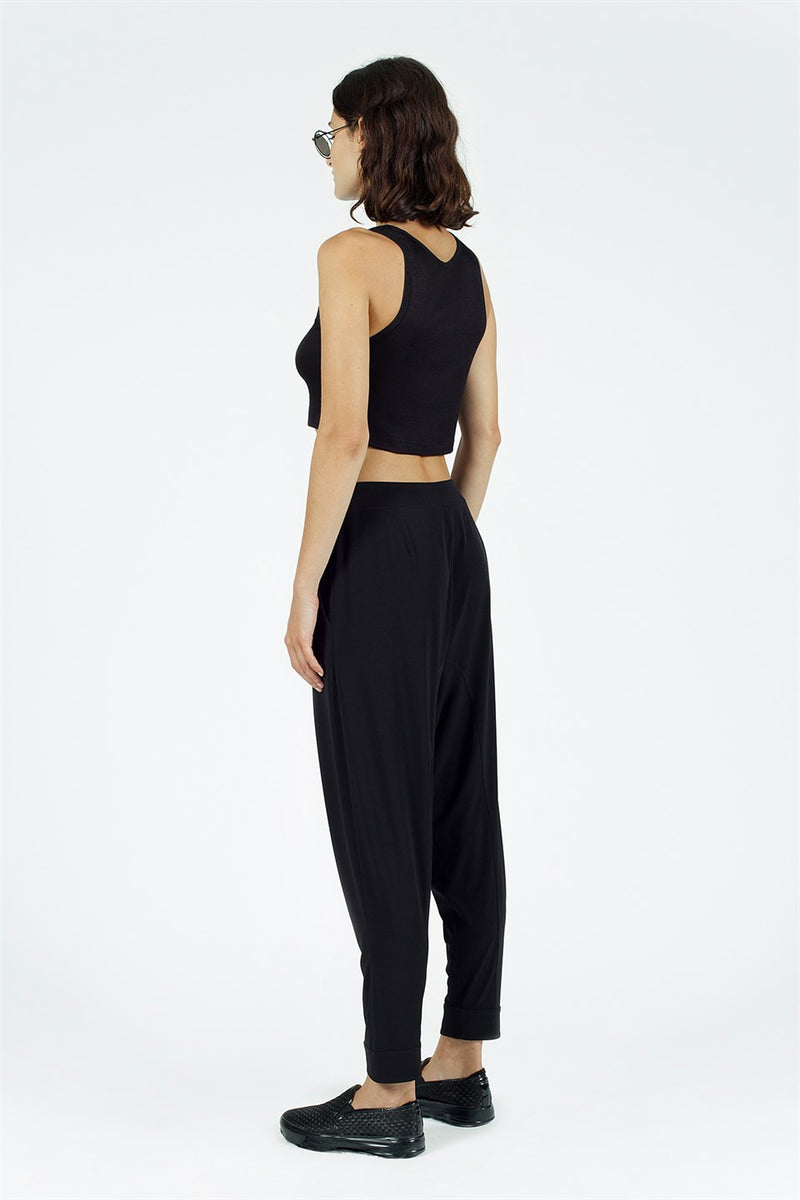 Nu High Waist Harem Trouser Black
