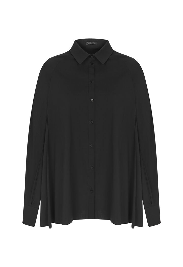 Nu Long Sleeve Relaxed Fit Shirt Black